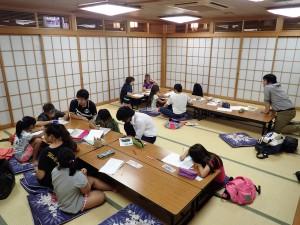 8月31日の教室の様子